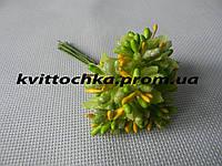 Соцветие тычинок цвет - зелёный с жёлтым