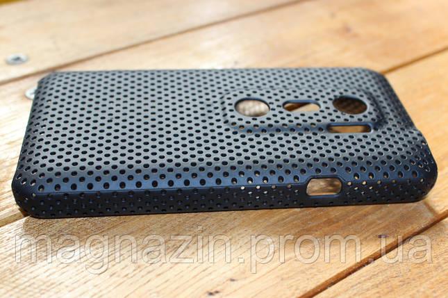 Чехол HTC EVO 3D G17 Черная перфорация., фото 2