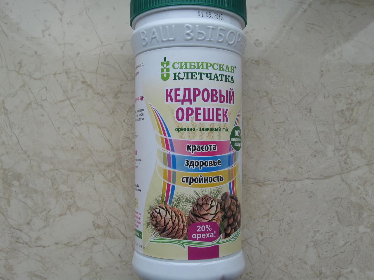 Сибирская клетчатка, кедровый орешек, 280г