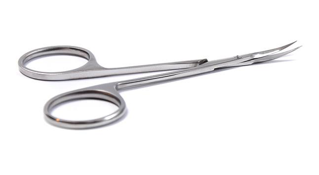 Ножницы для заусениц Olton 113 мм + чехол (кожа)