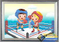 Схема для вышивки бисером - Детская вышивка - дети на ринге, Арт. ДБч5-10