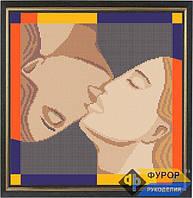 Схема для вышивки бисером - Целующаяся пара, Арт. ЛБч29-002