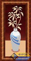 Схема для вышивки бисером - Панно ваза с цветами, Арт. НБч14-3