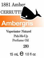 Парфюмерное масло (280) версия аромата Черутти 1881 Amber pour Homme - 15 мл композит в роллоне