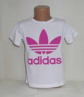 """Футболка для девочек """"adidas"""" 4,5,6,7,8 лет.  Детская одежда оптом Турция."""