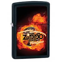 Бензиновая зажигалка Zippo черная Моторспорт