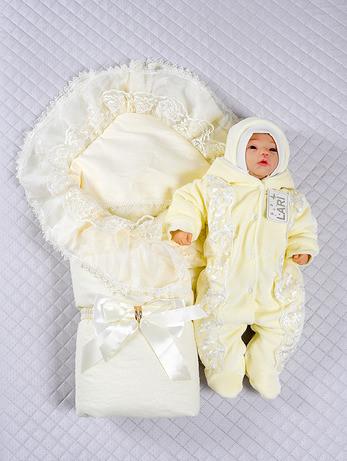 """Теплый набор для новорожденных """"Мария"""", 3-х предметный"""