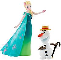 Набор фигурок Эльза и Олаф, Холодное сердце, Disney Frozen, Bullyland