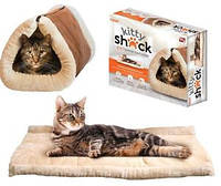 Уникальный лежак – кровать для кошки Kitty Shack 2 in 1 (домик подстилка для животных Китти Шак)