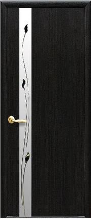 Модель Злата экошпон со стеклом сатин и рисунком межкомнатные двери, Николаев, фото 2