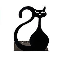 Упор для книг Глозис Черный кот Glozis Black Cat металл 15см х 10см