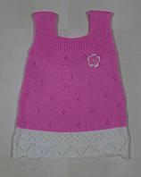 Платье вязаное на девочку 2 года