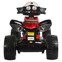 Детский квадроцикл черно-красный M 3101 EBLR черно-красный, фото 3