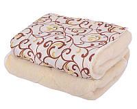 Двухспальное теплое одеяло с овечьей шерсти вензель хит продаж, фото 1