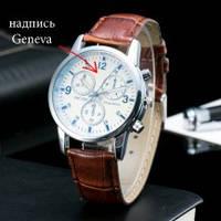 Мужские часы Geneva питон коричневые