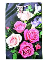 Подарочный пакет  Большой Вертикальный 25х39х9см Букет роз на фиолетовом фоне