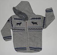 Кофта на молнии вязанная для мальчиков 1,2,3 года.  Детская одежда оптом Турция.