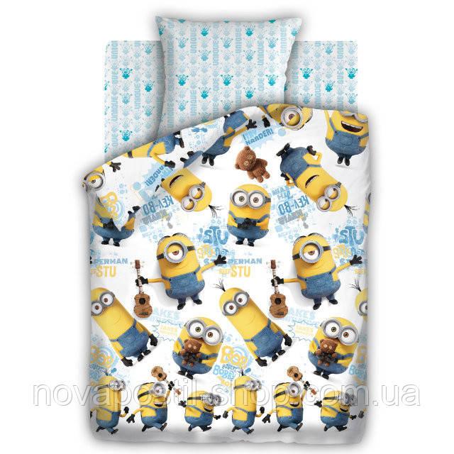 Комплект постельного белья Миньоны Уникумы подростковый