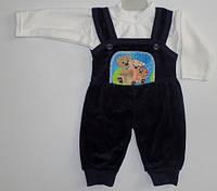 Комбинезон велюр+кофта 6 мес.  Детская одежда оптом Турция.