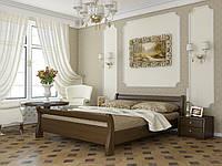 Стильная двуспальная кровать Диана из массива карпатского бука