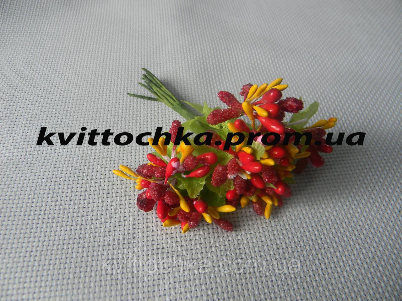 Соцветие тычинок цвет - красный с жёлтым