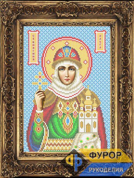 Схема иконы для вышивки бисером - Ольга Святая Княгиня 0f242a3bf420a