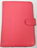 Чехол для планшетов с диагональю 7дм из искусственной кожи (розовый)