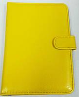 Чехол для планшетов с диагональю 7дм из искусственной кожи (желтый)