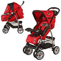 Коляска для детей Bambi M 2107-4 прогулка (красно-черная)