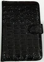 Чехол для планшетов с диагональю 7дм из искусственной кожи (черный рептилия)