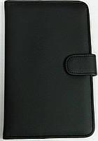 Чехол для планшетов с диагональю 7дм из искусственной кожи (черный)