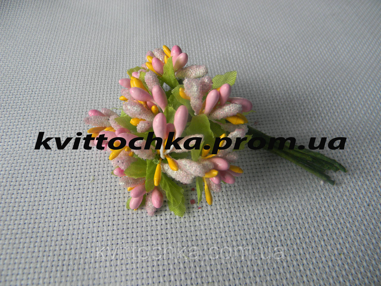 Соцветие тычинок цвет - розовый с жёлтым