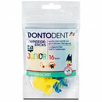 Dontodent Zahnseide-Sticks Junior Зубная нить с держателем для детей от 6 лет 16 шт. (Германия)