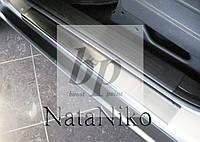 Защитные хром накладки на пороги Dodge Nitro (додж нитро 2006+)