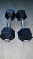 Гантель стальная неразборная весом 6 кг