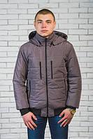 Зимняя мужская куртка  цвет графит , ткань Канада  р-44-60