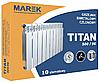 Биметаллические радиаторы Titan 500/96 нижнее подключение