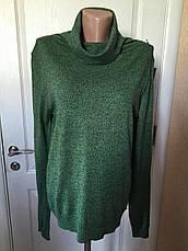 Свитер женский теплый удлиненный с хомутом  цвета серого,капучино,зеленый меланж  Италия Coconuda, фото 3