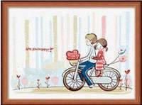 "Раскраска по номерам ""Пара на велосипеде"" 30*40"
