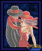 Схема для частичной вышивки бисером - Влюбленная пара, Арт. ЛБч3-15