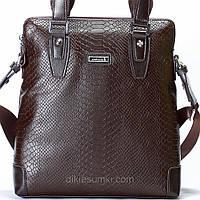 Мужская сумка на плечо Kabinias кожа коричневого цвета