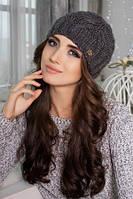 Вязаная шапка Корелла 4422 темно-серый