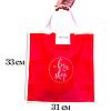 Складная сумка для покупок/Shopper bag эконом (красный), фото 2
