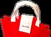 Складная сумка для покупок/Shopper bag эконом (красный), фото 5