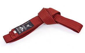 Пояс для кимоно MATSA коричневый MA-0040-BR(3) (х-б, р.3, 260см)