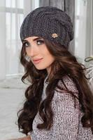Вязаная шапка Баффи4400 темно-серый