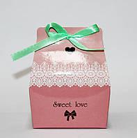 """Подарункова коробка """"Sweet love"""" (рожева)"""