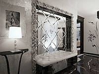 Зеркальная плитка и панно с фацетом 10 и 15мм