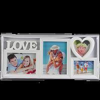 Фоторамка коллаж на 4 фото для влюбленных