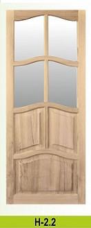 Двери сосна массив Классика, Мод №7, не лакированные, доставка из Киева